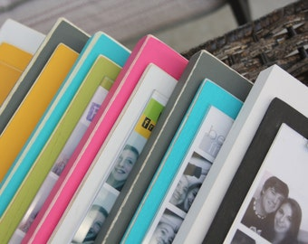 Photo Booth Picture Frames - Set of 5 - Distressed Wood or Non Distressed Wood - Your Color Choices