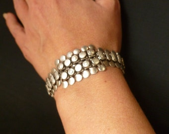 Tribal Ethnic Silver 80 Bracelet. Ethnic Accessories. Indian Jewelry
