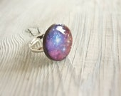 SALE SALE Space galaxy ring, purple adjustable ring, gift for her
