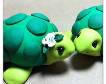 Turtle Wedding Cake Topper Handmade