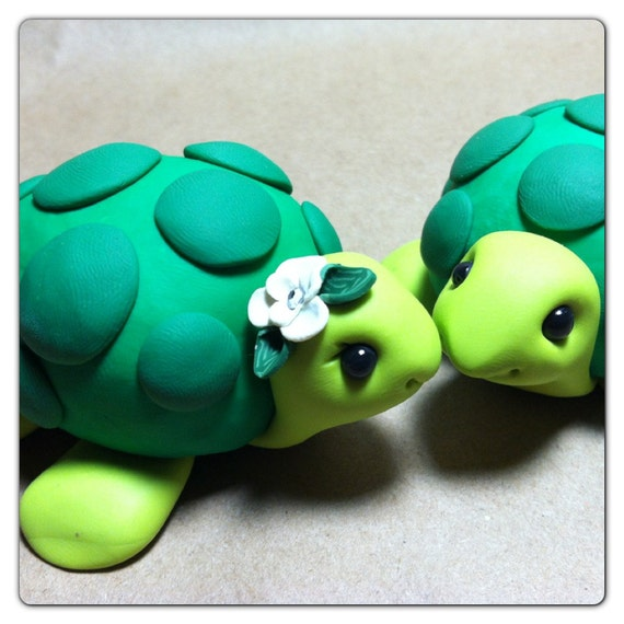 turtle wedding cake toppers turtle wedding cake topper handmade 21320