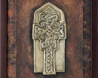Cross at Donegal - Celtic Cross - Cast Paper - Celtic Blessing - Irish art - Celtic art - Scottish art - Irish gift  - Ireland