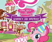 MLP My Little Pony Pinkie Pie Invitation Digital File 4X6 or 5X7