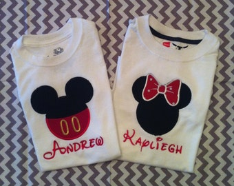 Mickey/Minnie Mouse t-shirts