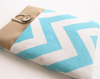 Chevron Kindle Sleeve Pocket , Kindle fire sleeve cover, nook cover, Google nexus 7 case
