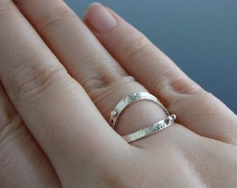 Sterling Silver Petal Ring