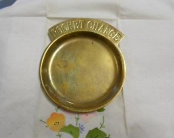 Pocket Change Tray Brass 1960s