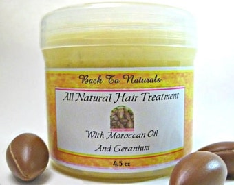 Natural Hair Moisturizer - Natural Hair Conditioner with Argan Oil and Organic Whipped Butter - Natural  Hair Care  - Choose Your Scent