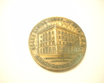 GRAND RAPIDS LODGE No. 50, Copper Coin For Purchasing Brick For New Temple-Loyal Order Of Moose