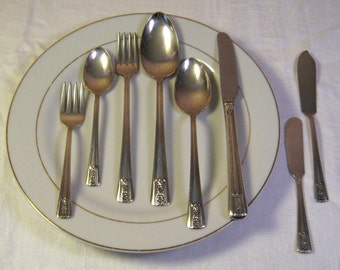 Vintage Wm Rodgers IS Louisiane 1938 Silver Plated Flatware - 20 Pieces