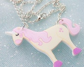 Unicorn Illustrated Acrylic Necklace