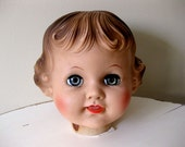 RESERVED - LARGE Vintage 50's Doll Head