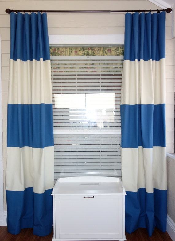 Custom Color Block Curtain Panels 50 X 96 By Sewdivinebyamanda