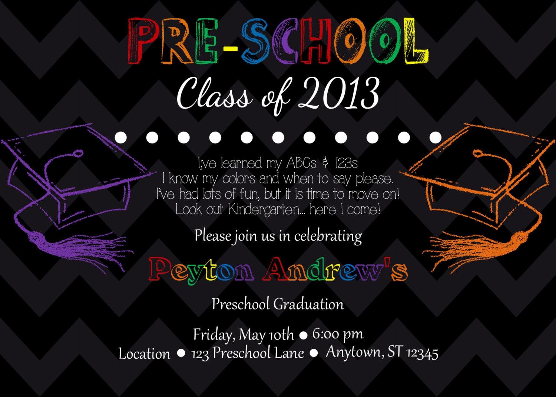 Preschool/Kindergarten Graduation Invitation by ...