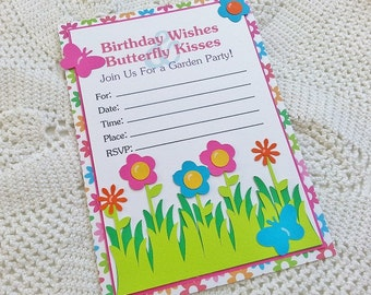 CLEARANCE - Garden Party Invitations - Set of 8