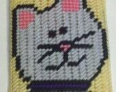 Plastic Canvas Kitty Cat Scissor Case Cover