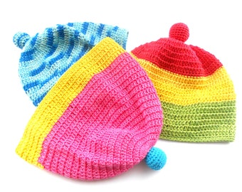 Crochet Baby summer hat Pink yellow blue baby girl hat Bright baby summer hat Summer Spring baby accessory Baby shower gift