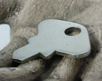 Stubby Little Vintage Metal Lock Key Steampunk Mixed Media Altered Arts Jewelry
