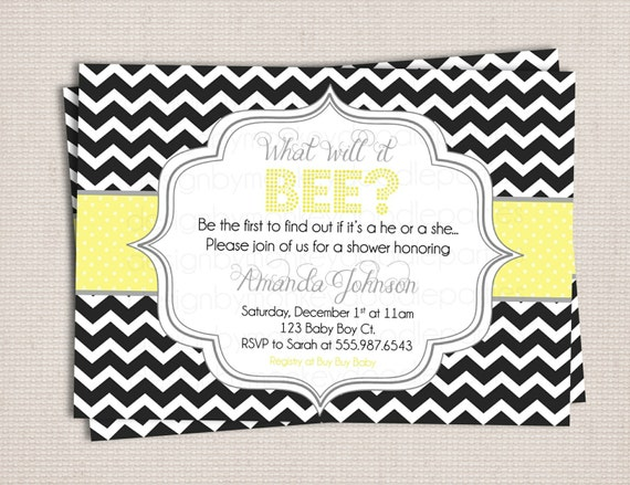 what will it bee chic chevron baby shower by monkeydoodleparties