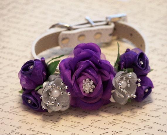 Purple And Silver Wedding Dog Collars Purple Wedding By