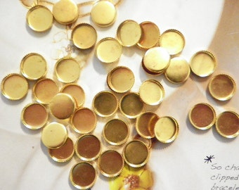 24 Brass 10mm Round Settings
