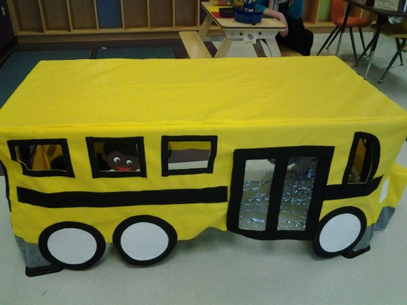Kit only school bus felt playhouse custom by for School playhouse