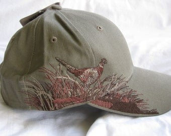 "Embroidered ""Pheasant"" Hat"
