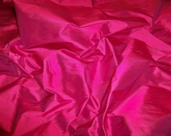 PASARI PREMIUM Silk Dupioni Fabric 10 Yards FUSCHIA