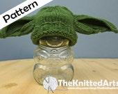 Newborn Knit PDF Hat Pattern - Yoda Style Ears