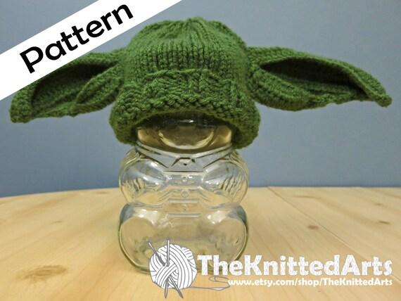 Newborn Knit PDF Hat Pattern Yoda Style Ears