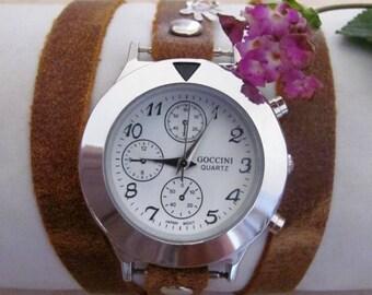 Handmade Bracelet Wrap Gold Watch - 2016 New Orlogin Style Design FREE SHIPPING