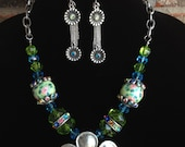 Chunky Flower Statement Necklace-Spring-Easter-One of a Kind Original- Designs by Stalinda