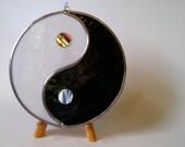 Yin Yang Symbol Stained Glass Chinese Tai-Chi Eastern Spiritual Zen Ying Yang