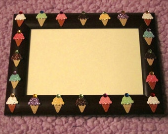 WE ALL SCREAM for ice cream picture frame