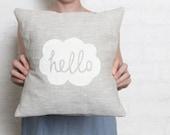 Hello Cushion Cover - White LAST BATCH!
