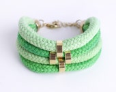 Last piece! Shades of Green - Minimalist Bracelet with beads