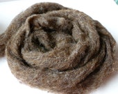 Natural Brown Romney and Merino Blend Wool Roving