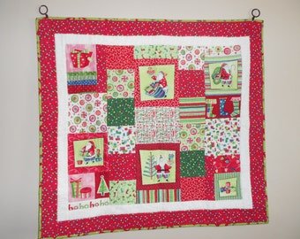 Quilted Wall Hanging....Table Topper....Christmas.....Holiday....Gift.....Unique....One of a KInd