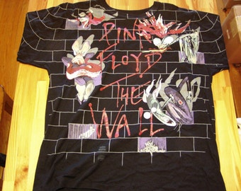 Pink Floyd The Wall T-Shirt 1992 - Licenced DeadStock pink floyd tshirt classic rock tee tour shirt roger waters david gilmour dark side of