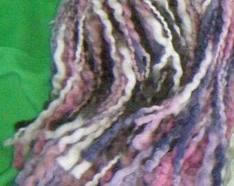Wool Hair Falls - Purple/Pink Mix