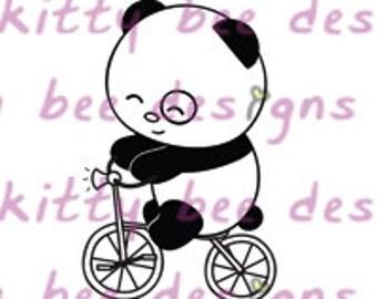 Trike Panda Digital Stamp