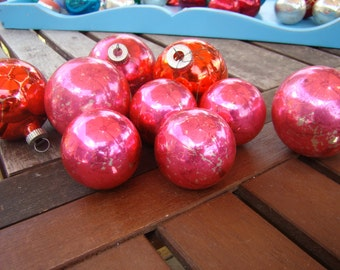 9 pink vintage Christmas ornaments