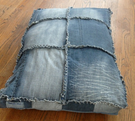 Dog Bed, Denim Dog Bed, Denim Bed, Recycled Denim
