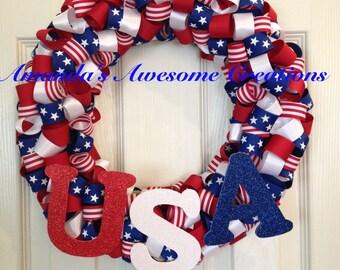 U.S.A. Ribbon Wreath 2