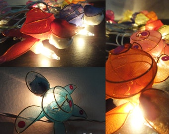 20 Fantasy Turtle Pet Cute Art Multi Colour Fairy Lights String 3m.  Party Patio Wedding  Floor Table or Hanging Gift Bedroom Home Decor