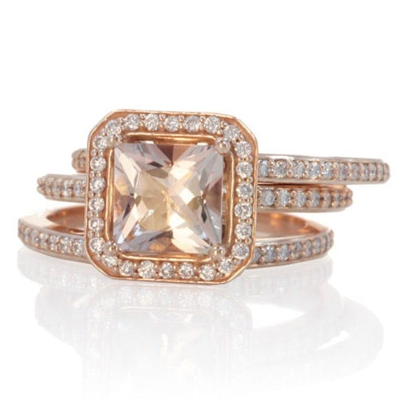 like this item - Rose Gold Wedding Ring Set