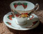 1960s New Brunswick Tartan Teacup & Saucer Set
