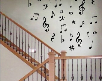 Removable Beautiful  Music Note   Nature Vinyl Wall Paper Decal Art Sticker