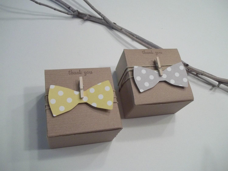 custom listing for 60 bow tie favor boxes. Black Bedroom Furniture Sets. Home Design Ideas