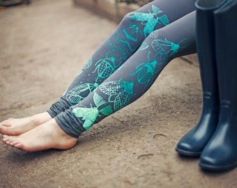 Mint beetles - leggings